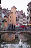 View of the bridge of the city of Annecy Stock Image