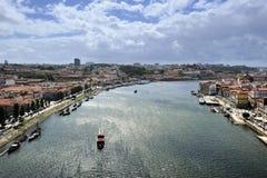 View from bridge de Luis I (Porto). View of Porto from bridge de Luis I (Portugal Stock Photo