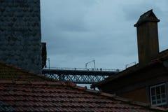 View of the bridge dom luis royalty free stock photos