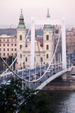 View of the bridge in Budapest Royalty Free Stock Image