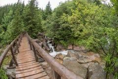 View of bridge - fisheye distortion Stock Photo