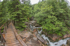 View of bridge - fisheye distortion Royalty Free Stock Photo
