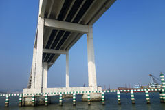 The view of Bridge of Friendship from the low angle in Macau Stock Photos