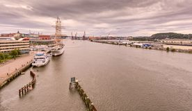 View from bridge at gothenburg royalty free stock image