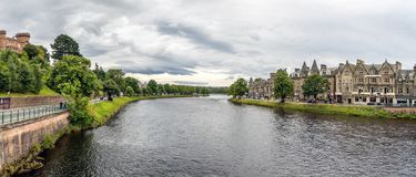 Inverness at cloudy weather in summer, Scotland Royalty Free Stock Images