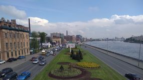 View from bridge. The view from the bridge Kantemirovskiy Royalty Free Stock Image