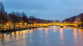 View of the bridge Louis-Philippe over the Seine Royalty Free Stock Images