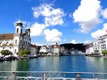 View from bridge in Lucerne, Switzerland Stock Photography