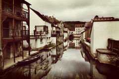 View from a bridge over a canal Royalty Free Stock Images