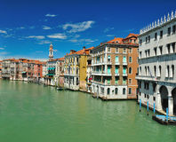 View from Bridge Ponte di Rialto in Venice Royalty Free Stock Photography