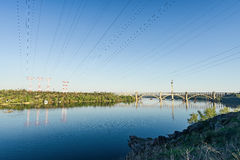 View of the bridge of Preobrazhensky Stock Photo