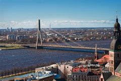 View on a bridge in Riga Royalty Free Stock Photos