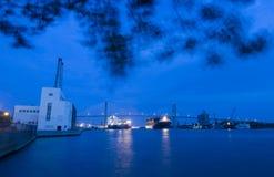 View of Bridge in Savannah Stock Photography