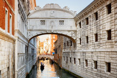 View of the Bridge of Sighs Ponte dei Sospiri in Venice, Italy Royalty Free Stock Images