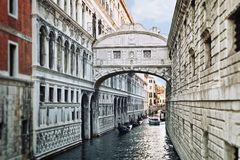 View of Bridge of Sighs in Venice, Italy Stock Photography