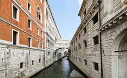 View of Bridge of Sighs in Venice, Royalty Free Stock Photography