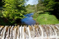 A view from the bridge in Simonsbath, Exmoorr Stock Image