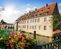 View from bridge of Strasbourg Stock Photo