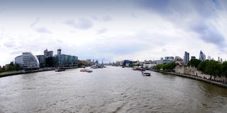 View from the bridge on the Thames Stock Photography