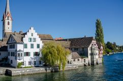 A view from a bridge to a part of the old town Royalty Free Stock Photo