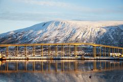 View of the  bridge Tromso Royalty Free Stock Photo