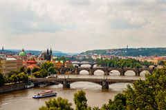 View of bridges in Prague Stock Image