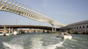 View on the bridges of Venice from a boat Royalty Free Stock Photography