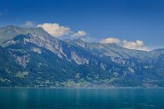 Brienzersee, Interlaken Switzerland. View on Brienz from the Brienzersee in the summer. Interlaken, Bernse Oberland, Switzerland Royalty Free Stock Image