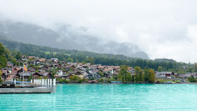 View of Brienz Lake, Interlaken region in Switzerland Stock Photos