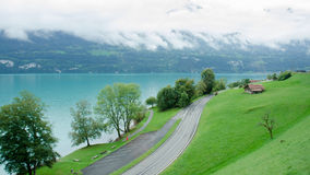 View of Brienz Lake, Interlaken region in Switzerland Royalty Free Stock Image