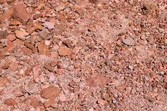 View of bright red earth, background, texture. royalty free stock photos
