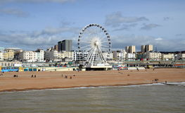 View on Brighton Wheel from Brighton Pier, Birghton, England, UK Stock Photos