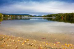 Fall colors in North America. A view of the brilliant and eclectic colors that take over the entire Adirondacks region in New York state of USA during the peak royalty free stock image