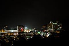 View of Brinchang town, Cameron Highlands at night Royalty Free Stock Image