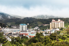 View of Brinchang town, Cameron Highlands on a serene morning Royalty Free Stock Images