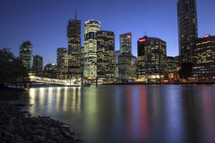 View of Brisbane city from Kangaroo Point, Brisbane Stock Photos