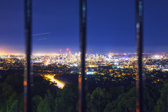 View of the Brisbane City from Mount Coot-tha Royalty Free Stock Photography