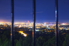 View of the Brisbane City from Mount Coot-tha Royalty Free Stock Images