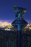 View of the Brisbane City from Mount Coot-tha Stock Photography