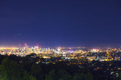 View of the Brisbane City from Mount Coot-tha Royalty Free Stock Photo