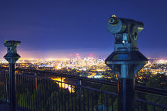 View of the Brisbane City from Mount Coot-tha Stock Image