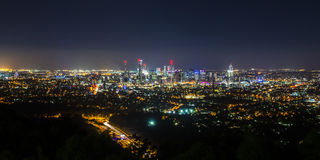 View of Brisbane City from Mount Coot-tha Stock Images
