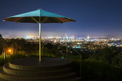 View of Brisbane City from Mount Coot-tha Royalty Free Stock Photography