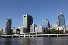View of Brisbane City from South Bank Royalty Free Stock Photography