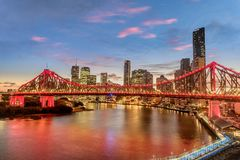 View of Brisbane over the river, Australia stock images