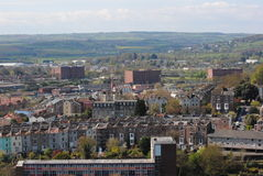 View on Bristol. England from the Cabot Tower stock photos