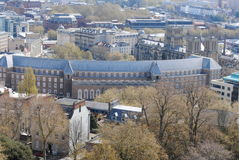 View on Bristol. England from the Cabot Tower stock image