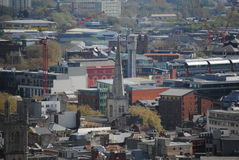 View on Bristol. England from the Cabot Tower stock photo