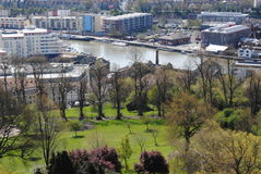 View on Bristol. England from the Cabot Tower royalty free stock photography