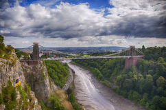 View at Bristol bridge Royalty Free Stock Photos